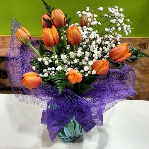 Orange Tulip Posy