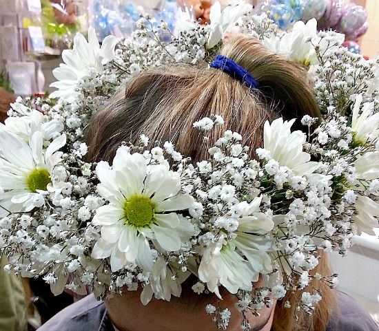 Babies Breath And Daisy Flower Crown