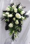 Traing Style Bouquet - Roses & Feathers