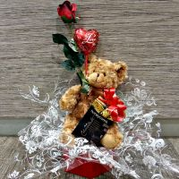 Bear, Chocolates, Rose