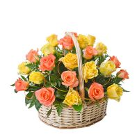 Bright Rose Basket