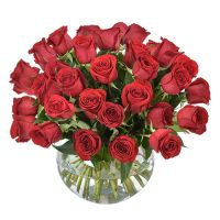 Three Dozen Roses Vased