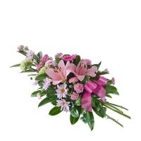 Funeral Spray in Pinks