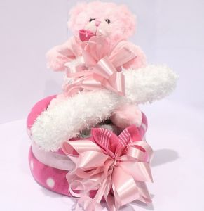 Girl Nappy Cake Small