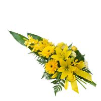 Funeral Spray in Yellow