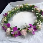 Flower Crown with Orchids, Roses and Babies Breath