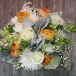 Bides Posy White Orange Grey