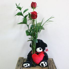 Bud Vase with Bear