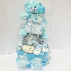 Boy Nappy Cake Large