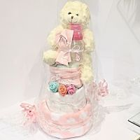 Girl Nappy Cake Large
